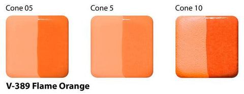 Amaco - Amaco V-389 Flame Orange Velvet Underglaze - Sounding Stone