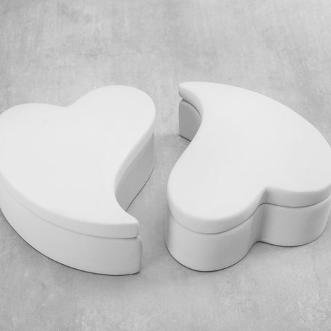 Duncan 38559 Bisque Joining Heart Boxes