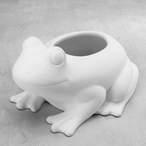 Duncan 38561 Bisque Frog Planter