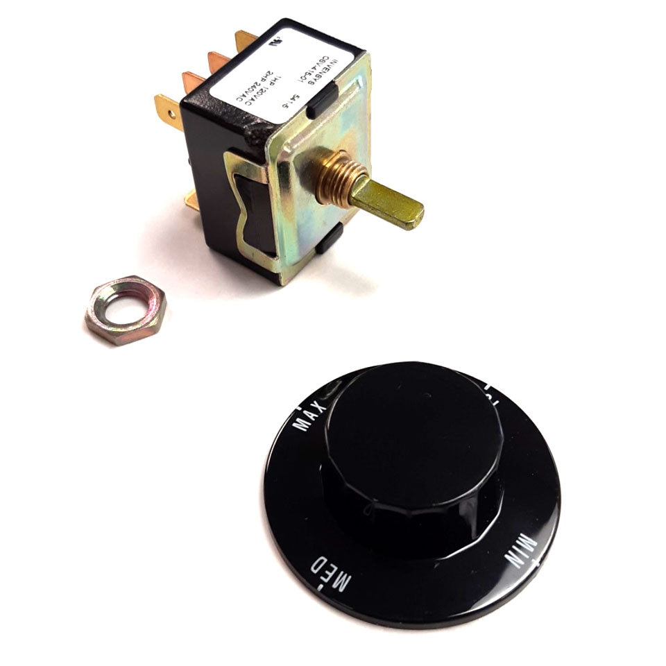 Three Heat - Four Position Switch with Knob