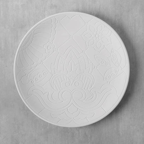 Duncan 40066 Bisque Talavera Charger Plate