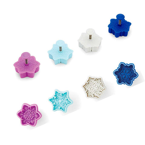 Intricate Winter Snowflake Plunger Cutters, 4 pc