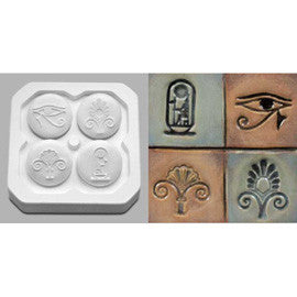 Mayco CD-1222 Four Egyptian Designs Press Tools - Sounding Stone