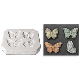 Mayco CD-1261 Butterflies Sprig Mold - Sounding Stone