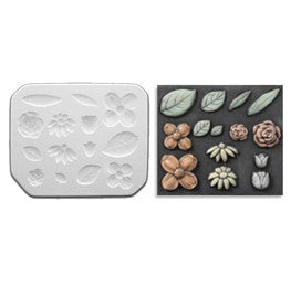 Mayco CD-778 Flowers and Leaves Sprig Mold - Sounding Stone