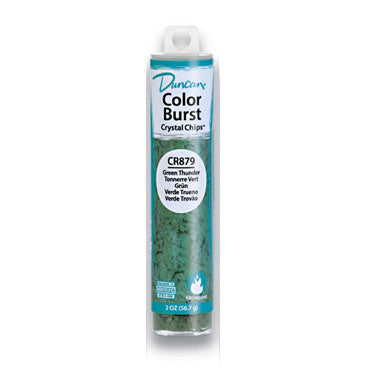 Duncan CR879 Green Thunder Color Burst Crystal Chips, 2 oz.