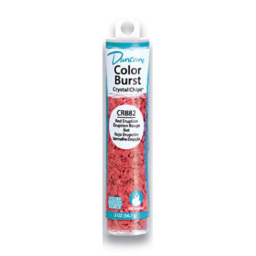 Duncan CR882 Red Eruption Color Burst Crystal Chips, 2 oz.