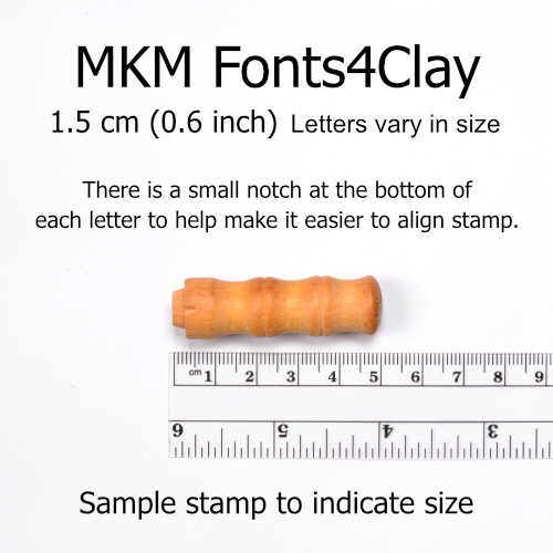 MKM Tools Prints Charming Lower Case Font Stamp Set