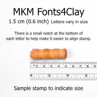 MKM Tools Prints Charming Punctuation Font Stamp Set