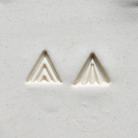 MKM Tools Sts1 Small Triangle Stamp - Zig Zags
