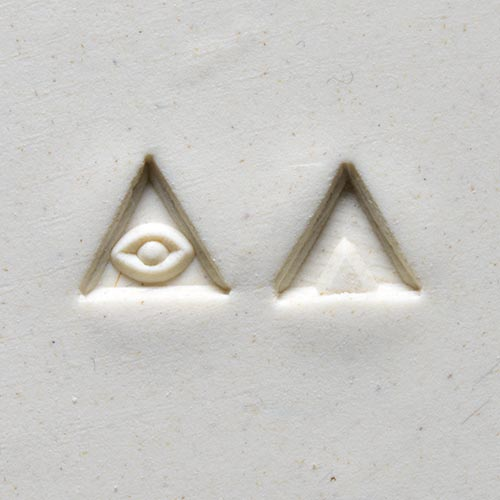 MKM Tools Sts10 Small Triangle Stamp - Eye and Triangle