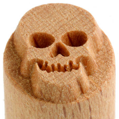 MKM Tools Scs106 Small Round Stamp - Skull