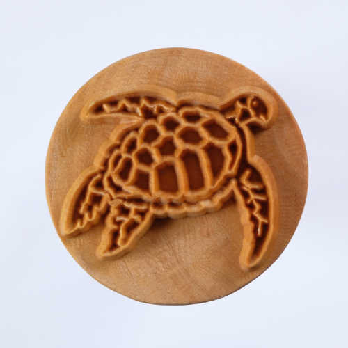 MKM Tools Scl005 Extra Large Round Stamp - Sea Turtle 1