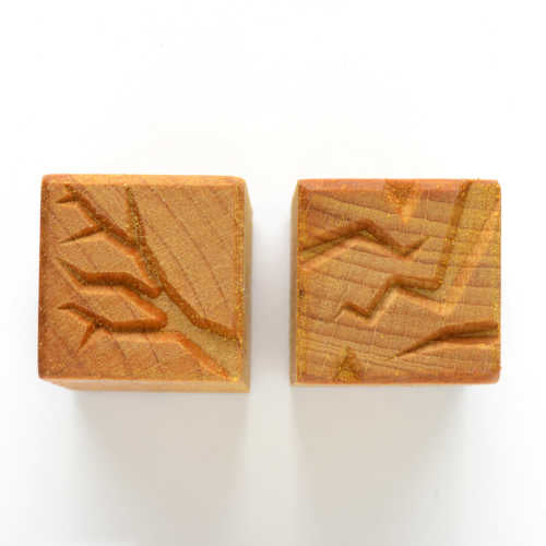 MKM Tools Ssm001 Medium Square Stamp - Branches and Lightning
