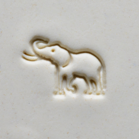 MKM Tools Scm203 Medium Round Stamp - Elephant with Tusks