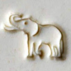 MKM Tools Scs168 Small Round Stamp - Elephant with Tusks