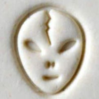 MKM Tools Scs169 Small Round Stamp - Alien Head