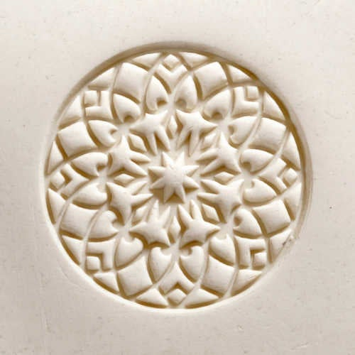 MKM Tools Scl009 Extra Large Round Stamp - Rose Window 2