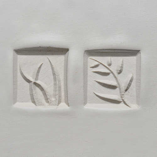 MKM Tools Ssm009 Medium Square Stamp - Ferns, Vines and Grass