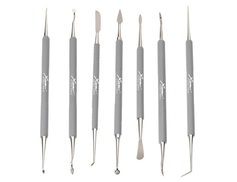 Xiem PSTS7SD Stainless Steel Double Ended Carving Tools, Set of 7