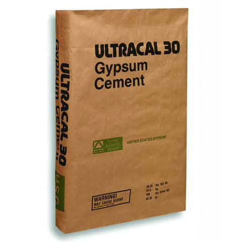 Ultracal 30 Plaster USG United States Gypsum Cement, 22.68 kg