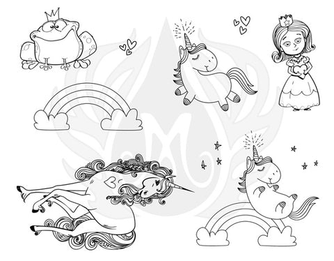 Mayco DSS-146 Princess and Unicorns Designer Silkscreen