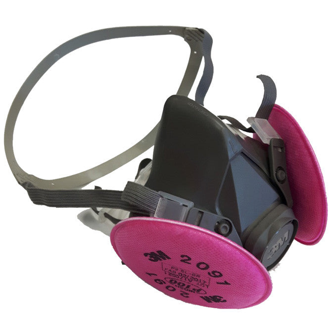 Half Facepiece Respirator With P100 Particulate Filters 3M