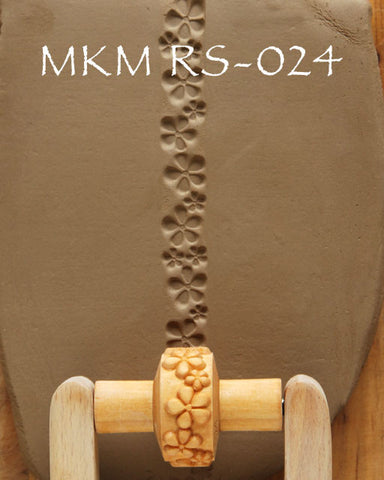 MKM Tools RS-024 1.5 cm Embossed Flowers Design