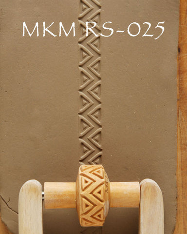MKM Tools RS-025 1.5 cm Zig Zag and Triangles Design