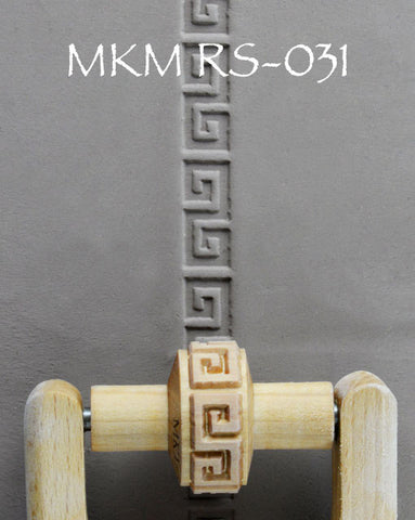 MKM Tools RS031 1.5 cm Small Embossed Square Spiral Design