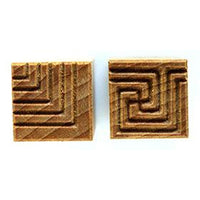 MKM Tools Ssm016 Medium Square Stamp - Intersecting Lines