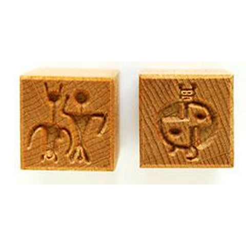 MKM Tools Ssm080 Medium Square Stamp - Hieroglyphs