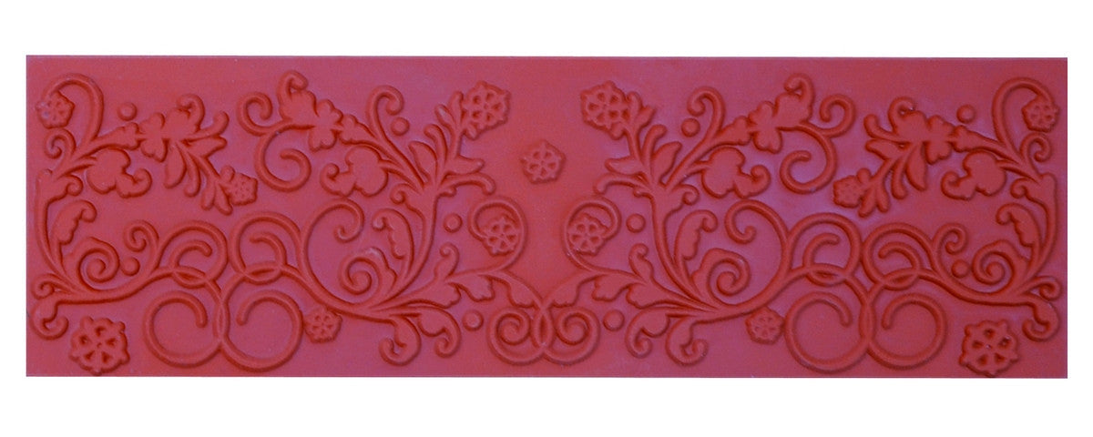 Mayco ST116 Floral Flourish Rubber Stamp - Sounding Stone