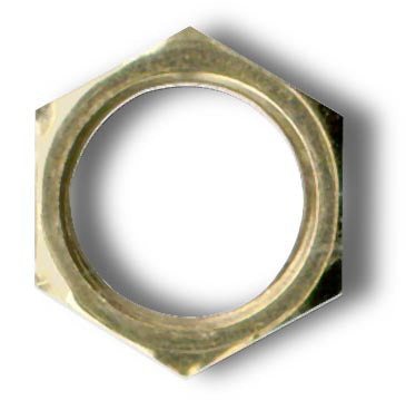 Hexnut, Brass Plated