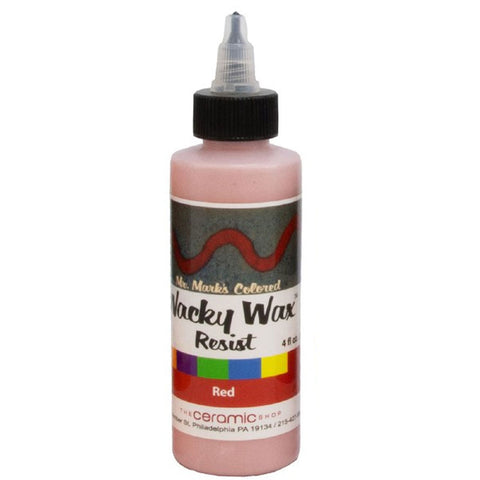 Wacky Wax Resist Red, 4 oz