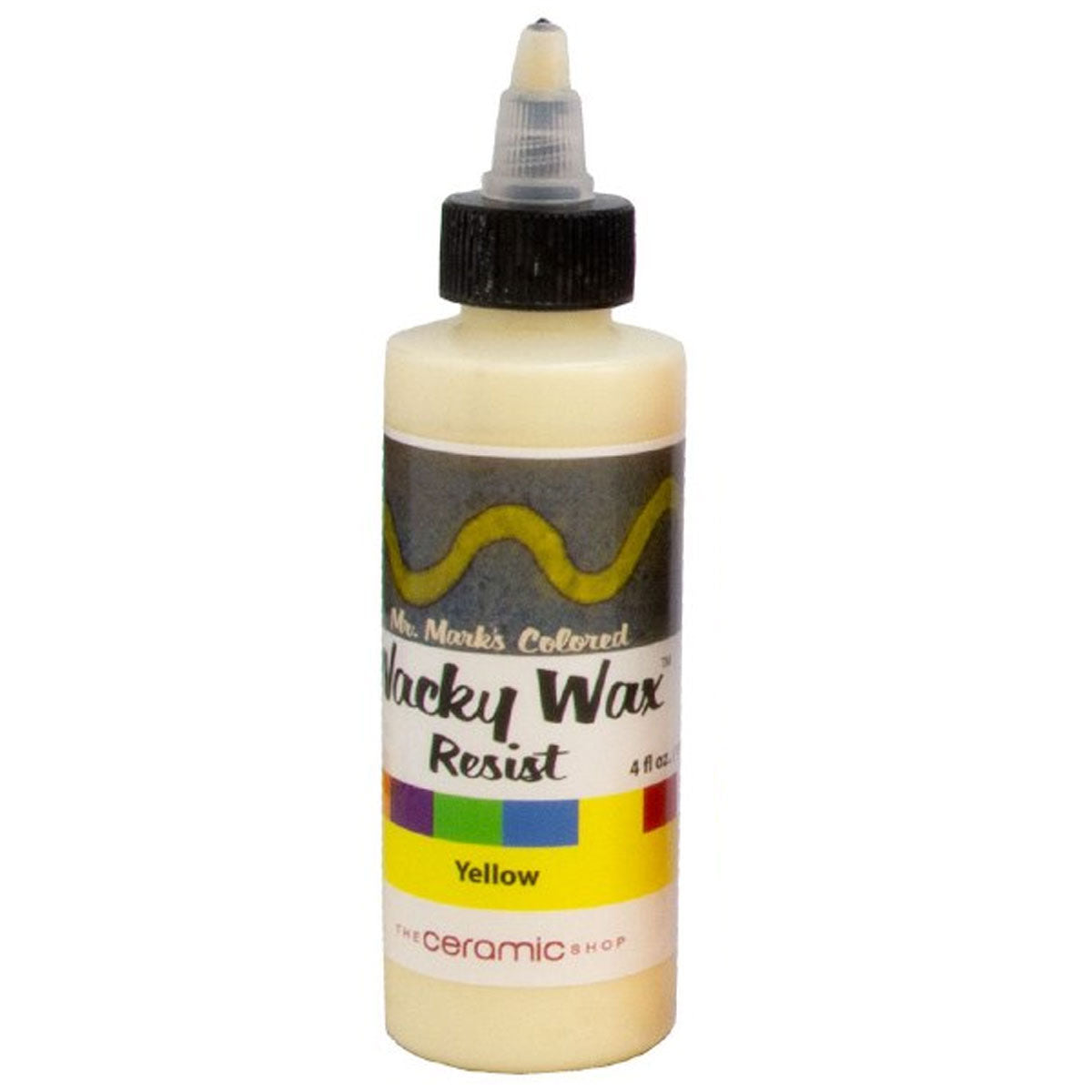 Wacky Wax Resist Yellow, 4 oz