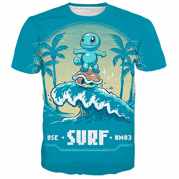 Squirtle Cute 3D Printed Shirts