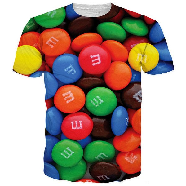 3D M&M Crunchy Chocolate Colorful Shirts