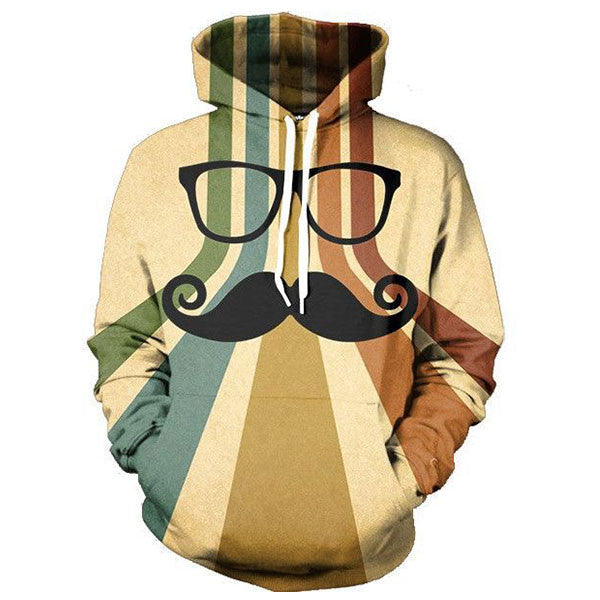 Beard And Glasses 3D Shirts