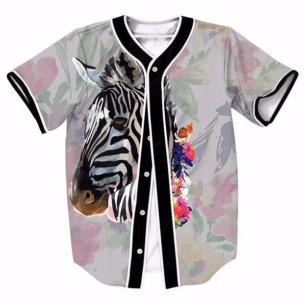 Zebra Flower Oil Painting New Shirts