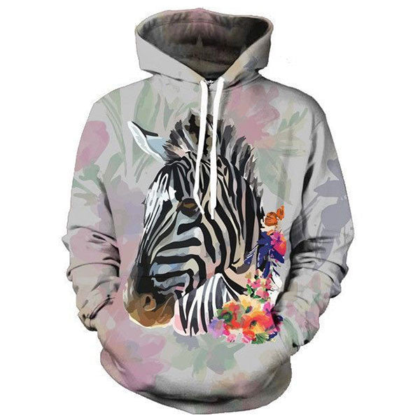 Zebra Flower Oil Painting Shirts