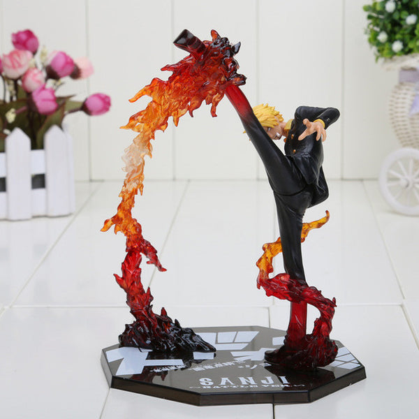 One Piece Anime Black Leg Sanji Fire Battle Toy