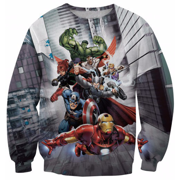 The Avengers Fly Printed Shirts