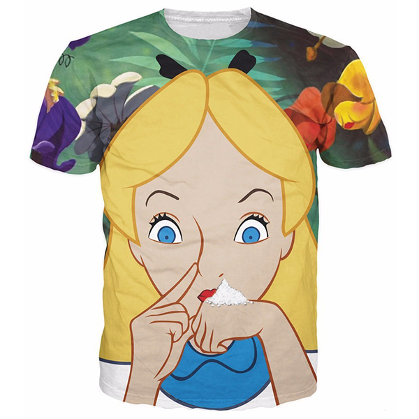 Alice In Cocaland Printed Shirts