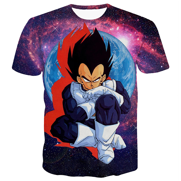 Vegeta Galaxy 3D Printed Shirts