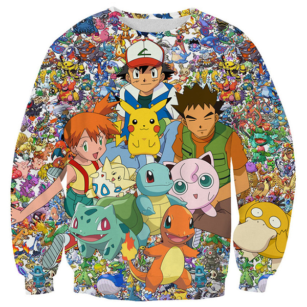All Pokemon 3D Sweat Shirts
