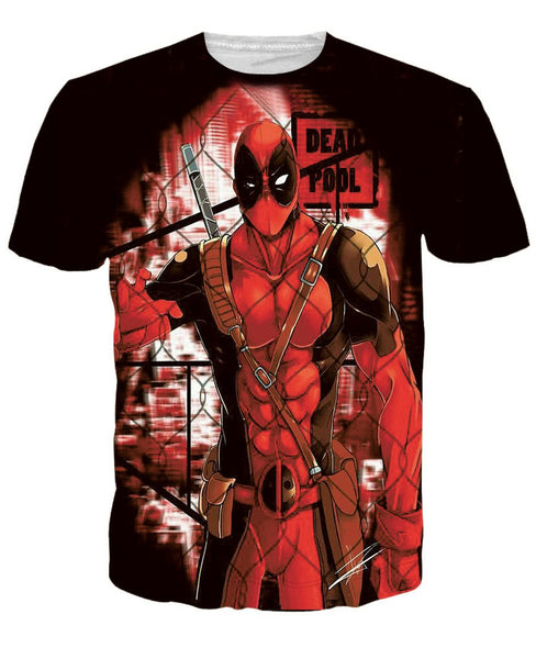 Deadpool Red 3D Printed Shirts