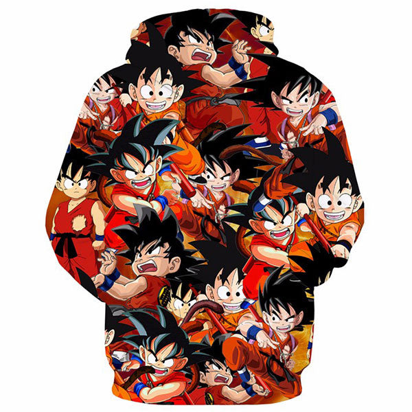 Cool Kid Goku Paparazzi 3D Shirts