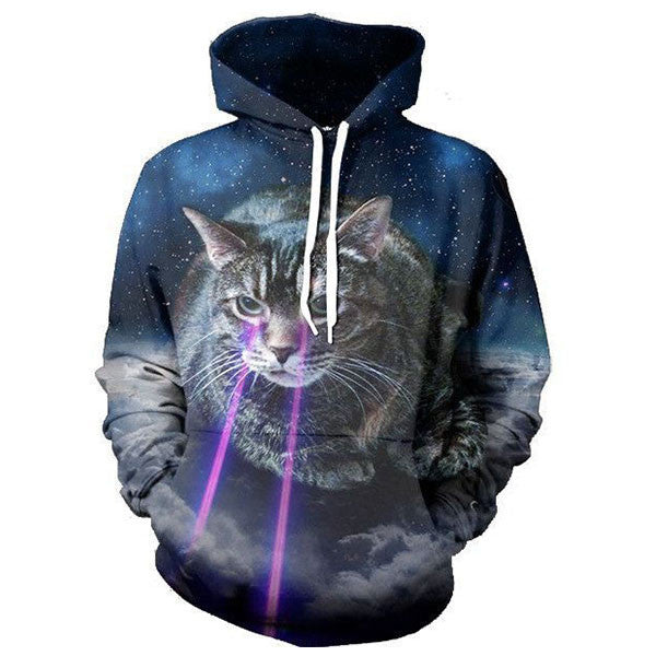 Cat Eyes Laser Galaxy 3D Shirts