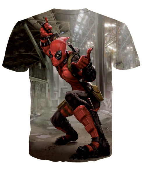 Deadpool Fun 3D Printed Shirts